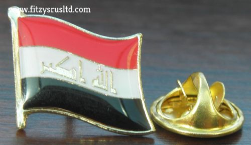Iraq Country Flag Lapel Hat Cap Tie Pin Badge -   Republic of - New